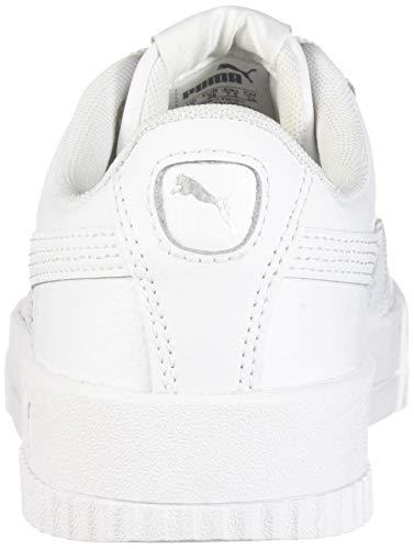 PUMA Women's Carina Sneaker, White White Silver, 9 M US Georgia