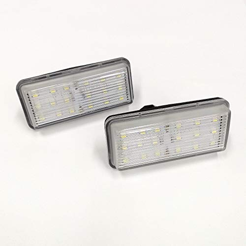 AWQC Luces de matrícula de Coche 18-SMD LED LIGNO Número de matrícula Lámpara de luz Compatible con Toyota Land Cruiser Cygnus J100 / Prado J120 / Land Cruiser J200 / Mark X/Reiz Universal