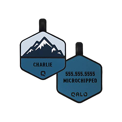 QALO Customized Silicone Dog ID Tag - Frost Mountain
