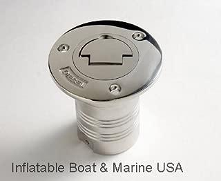 Boat Deck Fill/Filler Keyless Cap -2 inch- Fuel Gas Diesel Water Marine 316 Stainless Steel
