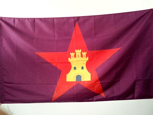 AZ FLAG Bandera de Castilla COMUNERA INDEPENDENTISTA 90x60cm para Palo - Bandera CASTELLANA NACIONALISTA 60 x 90 cm
