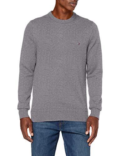 Tommy Hilfiger Pima Cotton Cashmere Crew Neck Suéter, Dark Grey Heather, S para Hombre