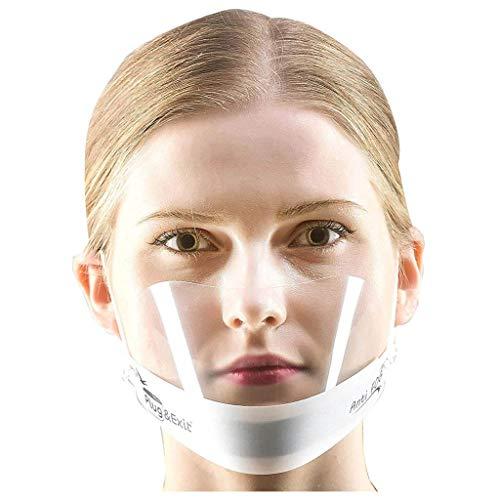 JSPOYOU 5PC Adult Protective Face Visor Face Fog No Fogging
