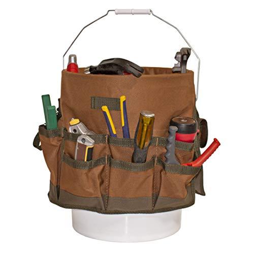 Bucket Boss The Bucketeer Bucket Tool Organizer in Brown, 10030