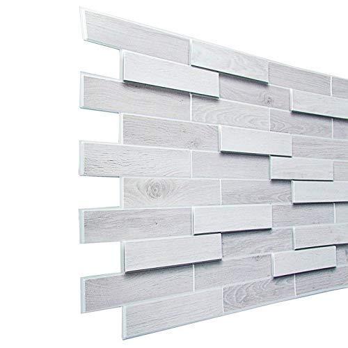 STM Dekor - Paneles de PVC para pared (1 placa, imitación de madera, paneles de techo, papel pintado, decoración de pared, adhesivo de pared, espuma, resistente al agua)