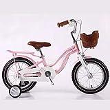 JG Bicicletas para niños, bicicleta infantil, 12/14/16/18 pulgadas, para niños y niñas de 2 a 12 años, con ruedas de entrenamiento, 3 colores (color: B, tamaño: 16 pulgadas)