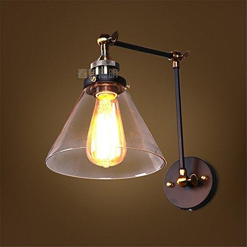 JJZHG wandlamp wandlamp waterdichte wandverlichting bar nachtclub restaurant café tekst persoonlijkheid hoofd trechter glas dubbele wandlamp omvat: wandlamp, stoere wandlampen