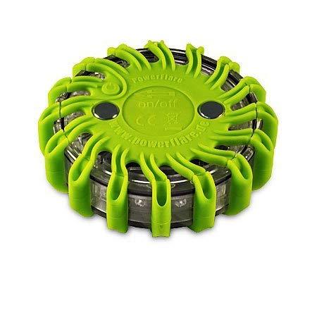 Powerflare Akku LED Signallicht inkl. Ladegerät in grün