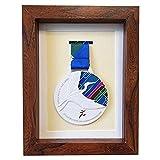 FTYYSWL Caja de medallas de madera maciza, vitrina de madera para medallas e insignias de honor,para exhibir medallas de guerra/militar/deportes