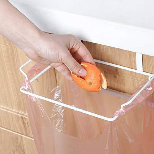 N-B Estante de basura para colgar en la cocina, bolsa de basura de plástico, soporte de almacenamiento multifuncional, sin agujeros