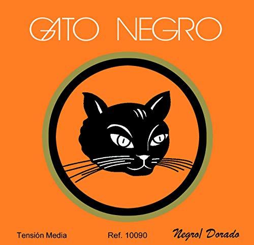 Juego de cuerdas Gato Negro Nylon Negro/Doradas para guitarra clásica y concierto