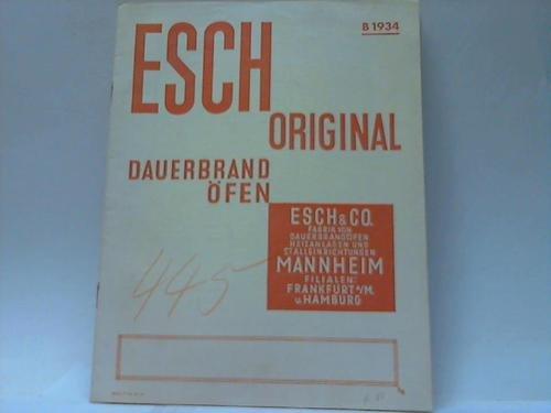 Esch Original Dauerbrandöfen. B 1934