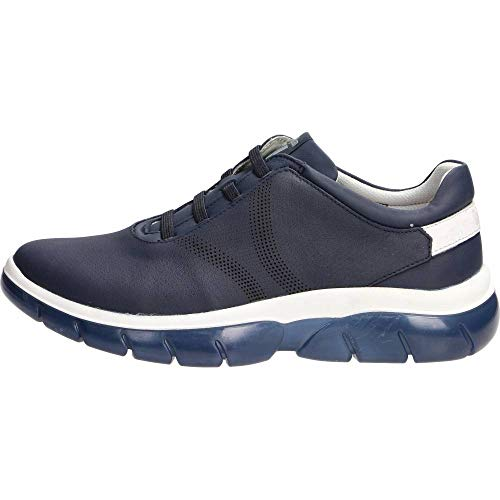 CALLAGHAN 42700 Vera Pelle Blu Sneakers Scarpe Uomo Sistema Adaptaction, 42