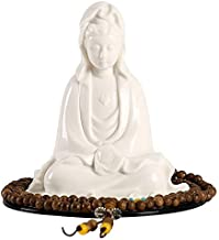 ZGPTX Home Decor Statue Collectibles Porcelain Guanyin Buddha Statue Car Ornaments Car Decoration Creative Ceramic Home Or...