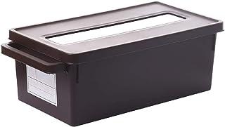 Caja de almacenamiento de plástico, cajas de almacenamiento apilables / estuches / gabinete apilable - CD DVD Álbum de mús...