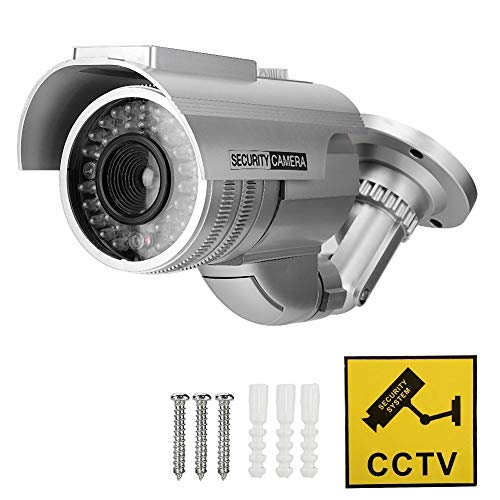 Buy Bargain Maxmartt Solar Power Dummy Fake Security Camera Bullet Shape LED Simulation Monitor