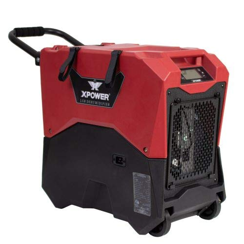 XPOWER XD-85LH Commercial LGR Dehumidifier for Basements and Crawlspaces - Red
