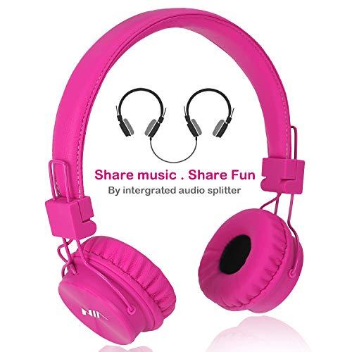 Kopfhörer Kinder, Kopfhörer für Kinder Faltbare kinderkopfhörer Verstellbare on Ear kopfhoerer für Jungen Mädchen Kopfhörer mit Autio Kabel, Musik-Share-Port Kinder Headset für iPhone Tablet MP4 PS4