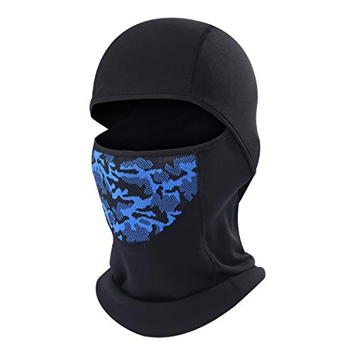 Cold Weather Ski Face Mask for Men Thermal Fleece Balaclava Hood for Skiing, Snowboard, Snowmobile, Motorcycle, Walking and More Outdoor Sports Blue