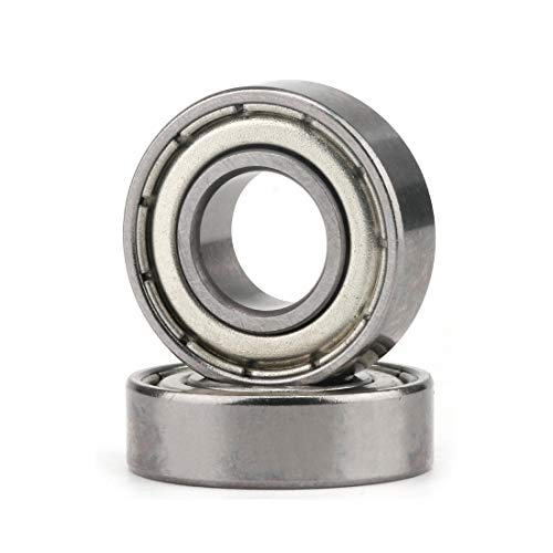 6200ZZ Bearings 10 x30 x9mm Bearing ABEC3 Precision Double Shielded and Pre-Lubricated Radial Ball Bearings, 2 Pcs