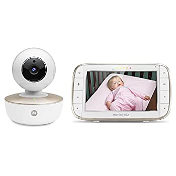 Motorola MBP855CONNECT Portable 5-Inch Color Screen Video Baby Monitor with Wi-Fi and One Camera White