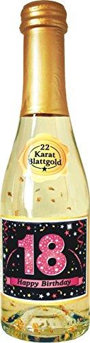 Pfeif auf's Alter Neutral im Geschenke Set für Frauen zum Geburtstag Geldgeschenk Umschlag mit Piccolo 22 Karat Blattgold gold pink lila schwarz (Pfeif aufs Alter pink 18 mit Piccolo 20214) - 5