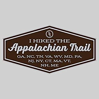 DHDM Appalachian Trail Adventure Wanderlust Hiking Camping Hunting Fishing Sticker 2-Pack 4.5 Inches x 2.5 Inches Premium Quality Vinyl UV Protective Laminate PD2011