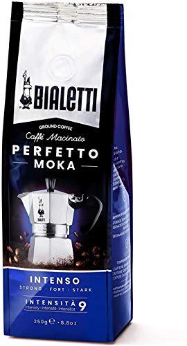 Bialetti Perfetto Moka (der perfekte Kaffee für den Moka), Gemahlener Kaffee - INTENSO Geschmack Stark, 250 g