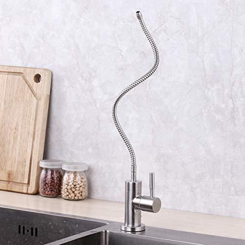 Grifo de filtro de agua de cocina de acero inoxidable, tubo flexible de 1/4 pulgadas, filtro de ósmosis inversa, purificador de pieza, grifo de bebida directa