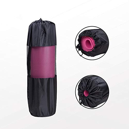 OttOen Yoga Mat, Daino-leer met buitenkant TPE-materiaal, milieuvriendelijk, antislip, fitnessmat voor yoga, pilates en gymnastiekmatten, 173 x 61 x 0,5 cm