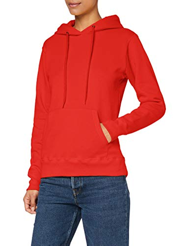 Fruit of the Loom - Sweat-shirt à capuche - Manches Longues - Femme - Rouge (Red) - FR 42 (Taille fabricant: L)