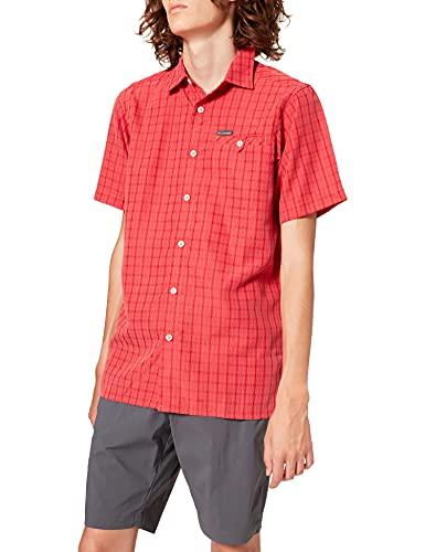 Columbia Declination Trail II Camisa de Manga Corta, Hombre, Rojo (Mountain Red Mini Plaid), XS