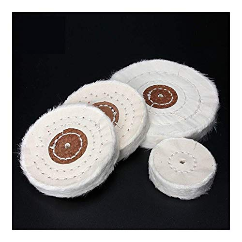 ZYJ Buffing Wheel 50-200mm White Cotton Lint Cloth Buffing Wheel Gold Silver Jewelry Mirror Polishing Wheel 4mm Inner Hole 50 Layers Polishing Wheel (Size : 75mm)