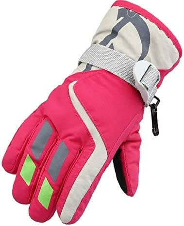 Jiangym Clothing & Beauty Outdoor Children Thick Warm Skiing Gloves, One Pair(Rose Red) Clothing & Beauty (Color : Rose Red)
