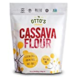 Otto's Naturals Cassava Flour (2 Lb. Bag) Grain-Free, Gluten-Free Baking Flour - Made From 100 % Yuca Root - Certified Paleo & Non-GMO Verified All-Purpose Wheat Flour Substitute