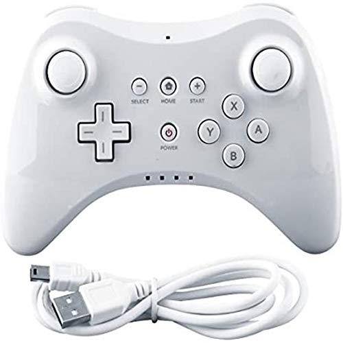 Satohom Wii U PRO Controller Wireless Classic Pro Controller Joypad Remote Senza Fili Wireless Analog Gamepad PRO Controller di Gioco con USB Cavo Controller del Pad Bluetooth per Wii U Pro