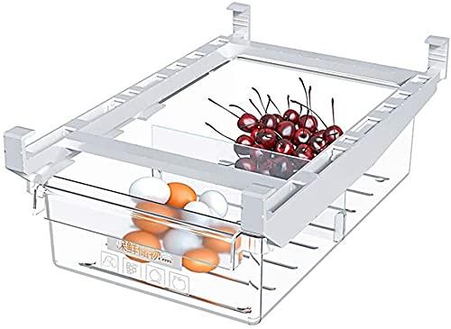 Caja De Almacenamiento De Cajón De Refrigerador, Caja Organizadora De Soporte De Estante De Refrigerador, Cajón De Refrigerador Retráctil Para Almacenamiento De Huevos Y Verduras