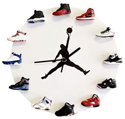 Reloj de pared 3D con diseño de zapatillas, perfecto para la cocina y el salón (A)