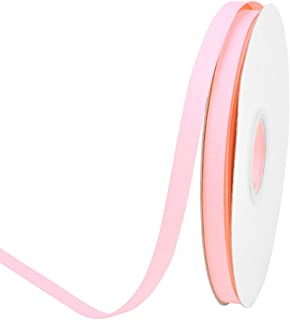 Ribest 3/8 inch 50 Yards Solid Grosgrain Ribbon Per Roll for DIY Hair Accessories Scrapbooking Gift Packaging Party Decoration Wedding Flowers Light Pink