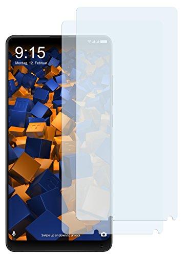 mumbi Schutzfolie kompatibel mit Xiaomi Mi Mix 2 Folie klar, Bildschirmschutzfolie (2X)