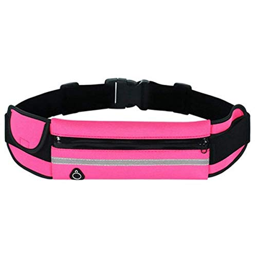 KJDS Riñonera impermeable para correr y deportes al aire libre, para mujeres, hombres, mujeres, para iPhone, Samsung, color rosa