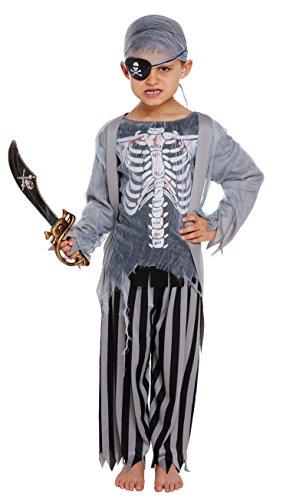 Emmas Wardrobe Zombi del Pirata de niños de Edades Entre 7-12 años de Vestuario