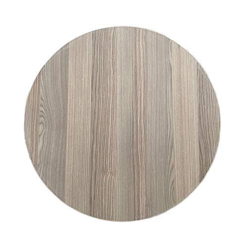 Runder Esstisch Orientalischer Klapptisch Tischplatte mit Metallfüßen Manti Yufka Sofra Tahtasi für traditionelle Gerichte, Durchmesser Ø 70cm, Eiche, Rund