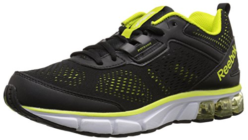 Reebok Men's Jet Dashride Running Shoe, Black/Semi Solar Yellow/White, 8 M US