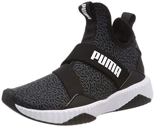 Puma Defy Mid Anml Wn's, Zapatillas de Deporte Mujer, Negro Black White, 36 EU