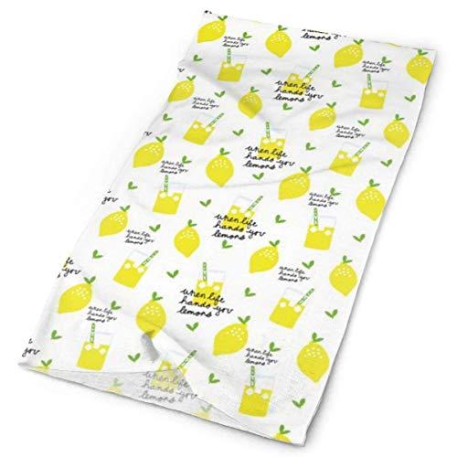 Quintion Robeson Bandana al Aire Libre para Rave Face Mascarilla bucal Protección contra el Polvo Máscara de Tubo de limón Headwear Bandana, Mujeres Hombres