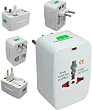 Dewberries Universal Travel Adapter, 250V Surge/Spike Protected Electrical Plug (White)