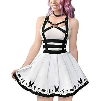 Littleforbig Overall Skirt Romper – Bondage Bunny Overall Skirt L White