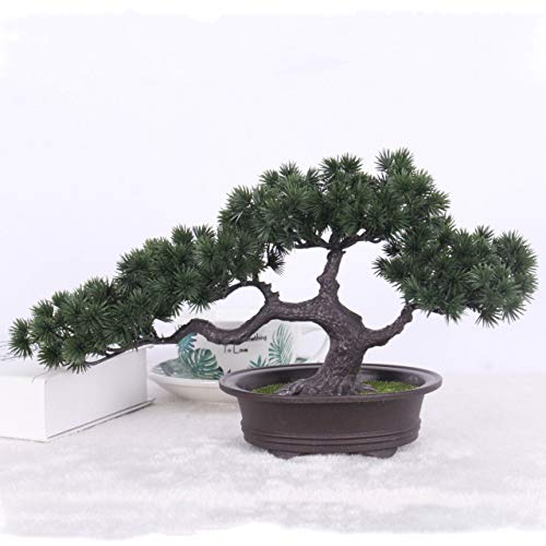 Simulation Bonsai Ornaments Fake Tree Potted Large Welcoming Pine Plastic Fake Potted Plant Simulation Pine Indoor Decoration