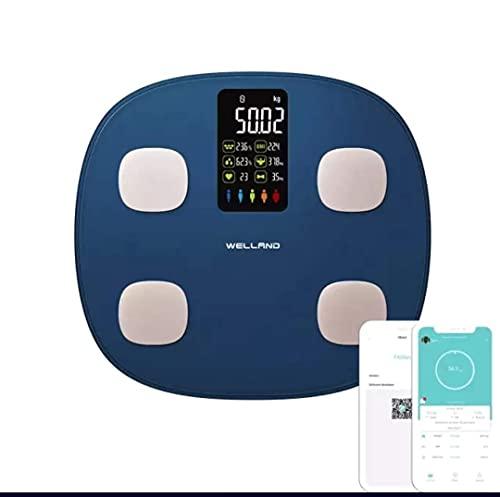 Bascula de baño de alta calidad, mide Grasa corporal, 7 datos de pantalla extra grande y Aplicacion para Smartphone